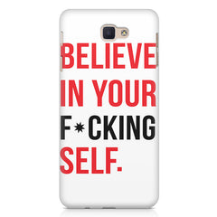 Believe in your Self  Samsung Galaxy A3 2017 hard plastic printed back cover.