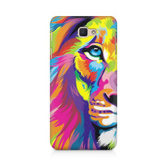 Colourfully Painted Lion design,  Samsung Galaxy On7 2016  printed back cover