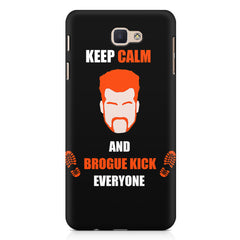 Keep calm and Brougue Kick everyone  design,   Samsung Galaxy A3 2017 hard plastic printed back cover.