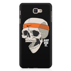 Skull Funny Just Did It !  design,   Samsung Galaxy A7 2017 hard plastic printed back cover.