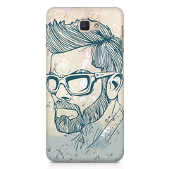 Virat Kohli Stylish Abstract Art design,   Samsung Galaxy A7 2017 hard plastic printed back cover.
