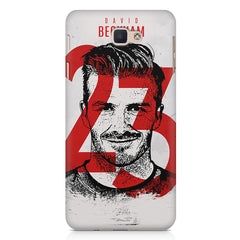David Beckhan 23 Real Madrid design,   Samsung Galaxy A7 2017 hard plastic printed back cover.