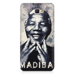 Nelson Mandela Madiba Abstract Art design,   Samsung Galaxy A7 2017 hard plastic printed back cover.
