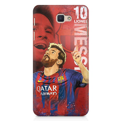 Lionel Messi Fan Art FCB 10 design,   Samsung Galaxy A7 2017 hard plastic printed back cover.
