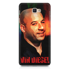 Vin Diesel Oil Painting Fanart design,   Samsung Galaxy A7 2017 hard plastic printed back cover.