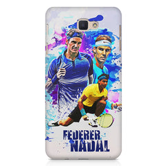 Federer and Nadal Oil Fanart design,   Samsung Galaxy A7 2017 hard plastic printed back cover.