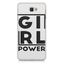 Girl power deisgn  Samsung Galaxy A7 2017 hard plastic printed back cover.
