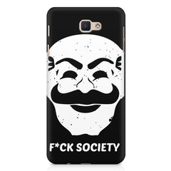 Fuck society design Samsung Galaxy On7 2016  printed back cover