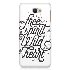 I am a free spirit design Samsung Galaxy On7 2016  printed back cover