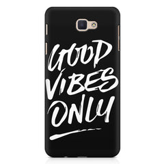 Good vibes only design  Samsung Galaxy A3 2017 hard plastic printed back cover.