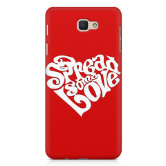 Spread some love design Samsung J7 Prime  printed back cover