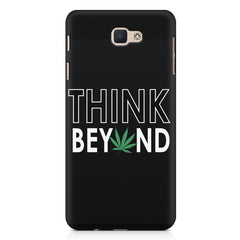 Think beyond weed design Samsung J7 Prime  printed back cover
