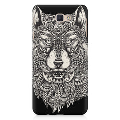 Fox illustration design Samsung J7 Prime  printed back cover