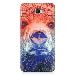 Zoomed Bear Design  Samsung Galaxy A3 2017 hard plastic printed back cover.