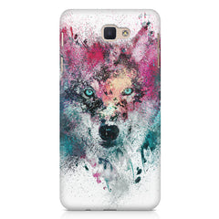 Splashed colours Wolf Design Samsung Galaxy A3 2017 hard plastic printed back cover.