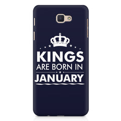 Kings are born in January design Samsung Galaxy A3 2017 all side printed hard back cover by Motivate box Samsung Galaxy A3 2017 hard plastic printed back cover.