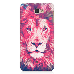 Zoomed pixel look of Lion design Samsung Galaxy A3 2017 hard plastic printed back cover.