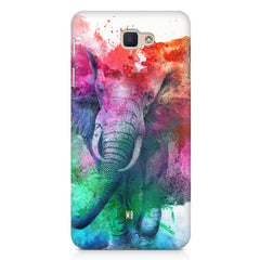 colourful portrait of Elephant Samsung Galaxy A3 2017 hard plastic printed back cover.