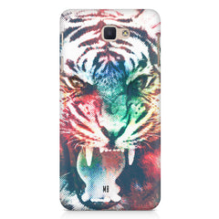 Tiger with a ferocious look Samsung Galaxy A3 2017 hard plastic printed back cover.