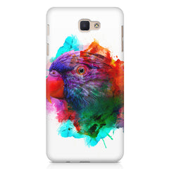 Colourful parrot design Samsung Galaxy A3 2017 hard plastic printed back cover.