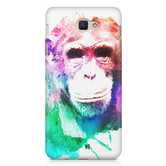 Colourful Monkey portrait Samsung Galaxy A3 2017 hard plastic printed back cover.