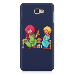 Punjabi sardars with chicken and beer avatar Samsung Galaxy A3 2017 hard plastic printed back cover.