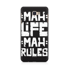 Mah Life Mah Rules Quirky design,  Samsung A5 2017  printed back cover