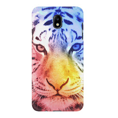 Colourful Tiger Design Samsung J7 Pro hard plastic printed back cover