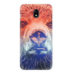 Zoomed Bear Design  Samsung J7 Pro hard plastic printed back cover