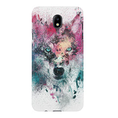 Splashed colours Wolf Design Samsung J7 Pro hard plastic printed back cover