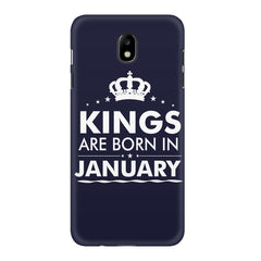 Kings are born in January design    Samsung J7 Pro hard plastic printed back cover