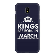 Kings are born in March design    Samsung J7 Pro hard plastic printed back cover
