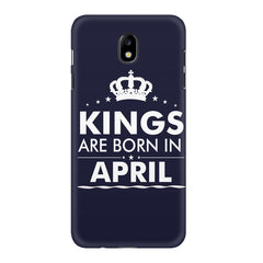 Kings are born in April design    Samsung J7 Pro hard plastic printed back cover