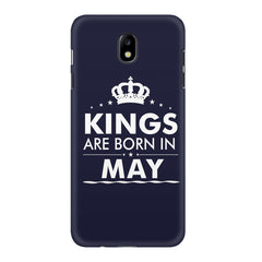 Kings are born in May design    Samsung J7 Pro hard plastic printed back cover