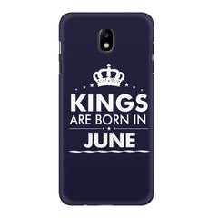Kings are born in June design    Samsung J7 Pro hard plastic printed back cover