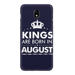Kings are born in August design    Samsung J7 Pro hard plastic printed back cover