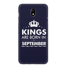 Kings are born in September design    Samsung J7 Pro hard plastic printed back cover