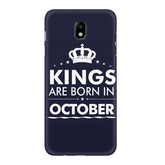 Kings are born in October design    Samsung J7 Pro hard plastic printed back cover