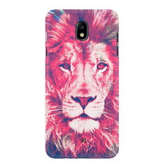 Zoomed pixel look of Lion design Samsung J7 Pro hard plastic printed back cover