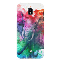 colourful portrait of Elephant Samsung J7 Pro hard plastic printed back cover