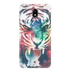 Tiger with a ferocious look Samsung J7 Pro hard plastic printed back cover