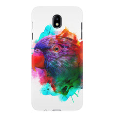 Colourful parrot design Samsung J7 Pro hard plastic printed back cover