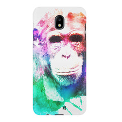Colourful Monkey portrait Samsung J7 Pro hard plastic printed back cover