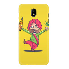 Sardar dancing with Beer and Marijuana  Samsung J7 Pro hard plastic printed back cover