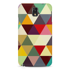 Colourful pattern design Samsung Note 3  printed back cover