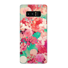 Floral  design,  Galaxy note 8  printed back cover