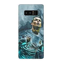 Oil painted ronaldo  design,  Galaxy note 8  printed back cover