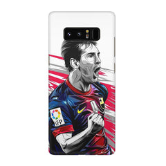 Messi illustration design,  Galaxy note 8  printed back cover