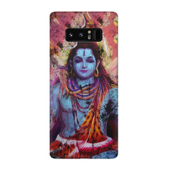 Shiva painted design Galaxy note 8  printed back cover