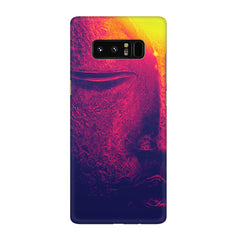 Half red face sculpture  Galaxy note 8  printed back cover